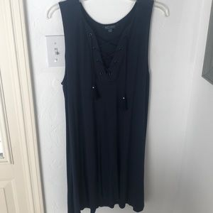 AEO soft & sexy Navy blue stretch tunic dress M